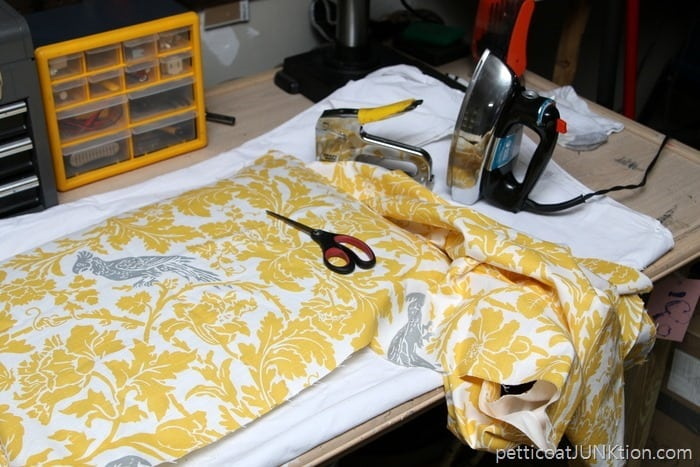 cutting fabric Petticoat Junktion