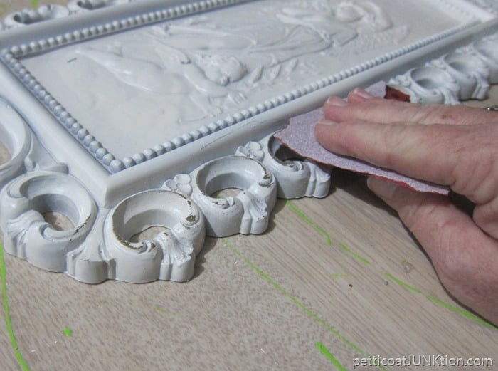 distressing white paint Petticoat Junktion