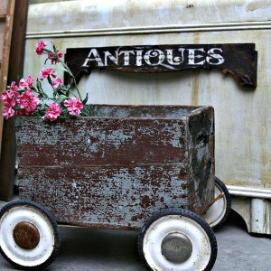 Antique Drawer Front Makes The Perfect Antiques Sign