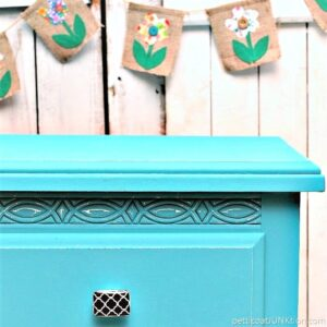 painting furniture and adding decorative furniture knobs