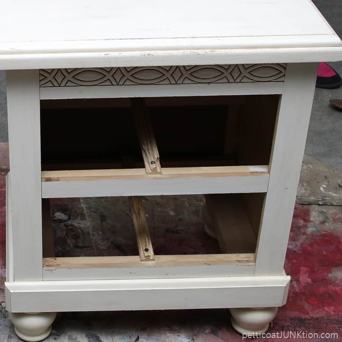 runner repairs needed for nightstand project Petticoat Junktion
