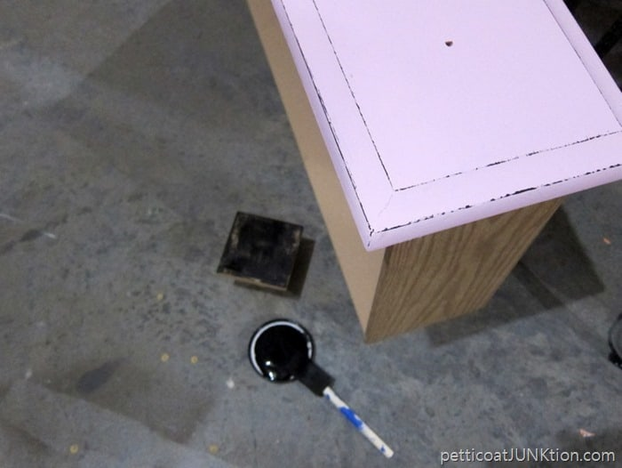Layering Block Distressing Technique Petticoat Junktion furniture makeover