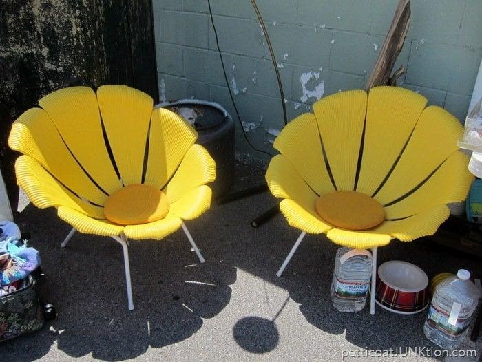Vintage petal chair Petticoat Junktion Nashville Flea Market Trip If You Had Your Pick What Would It Be
