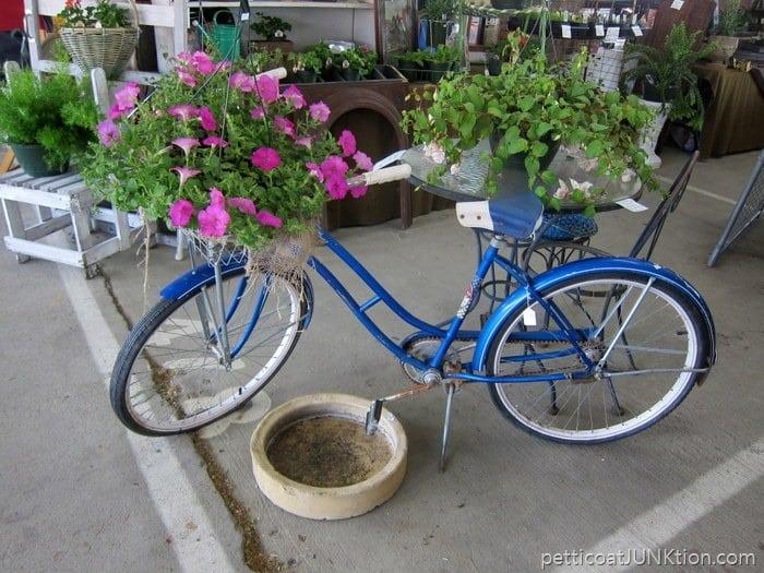 bicycle flower planter Petticoat Junktion Nashville Flea Market Trip