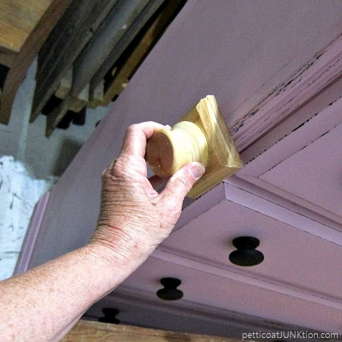 how to use a layering block for distressing Petticoat Junktion project