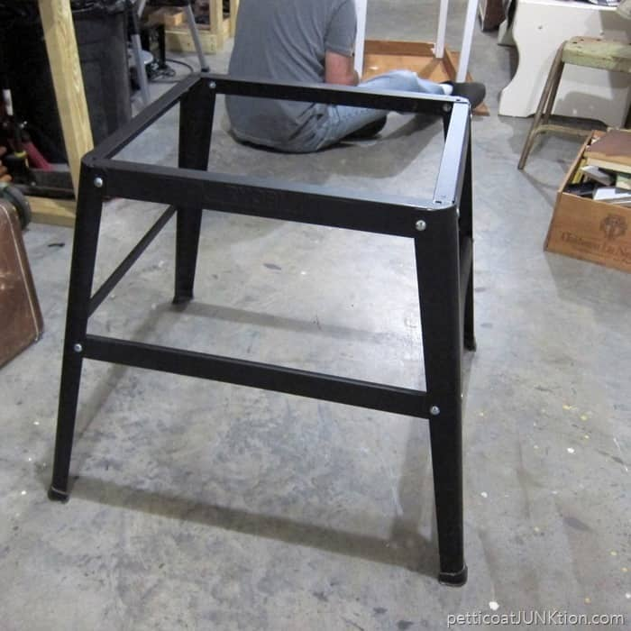 metal table saw base Petticoat Junktion