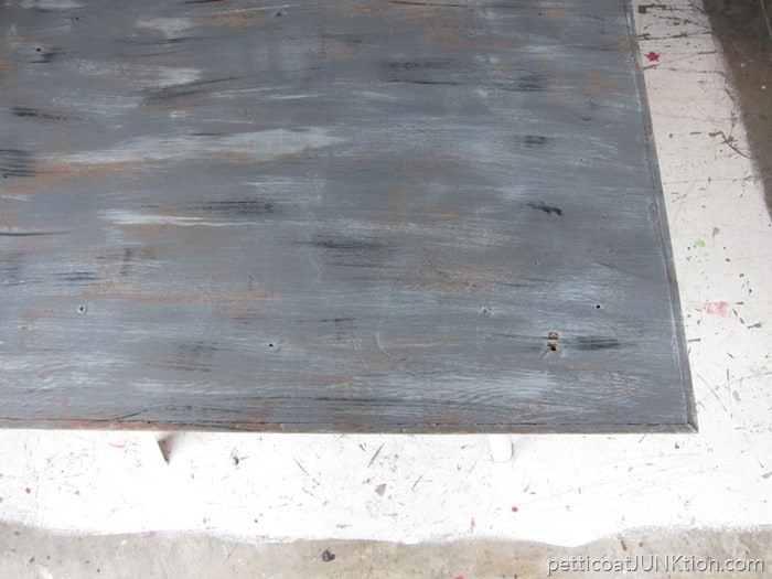 project weathered wood gray finish tutorial Petticoat Junktion