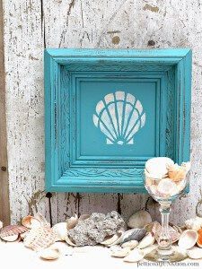 seashell-framed-art-stencil-design-in-turquoise-frame-1-Petticoat-Junktion.jpg