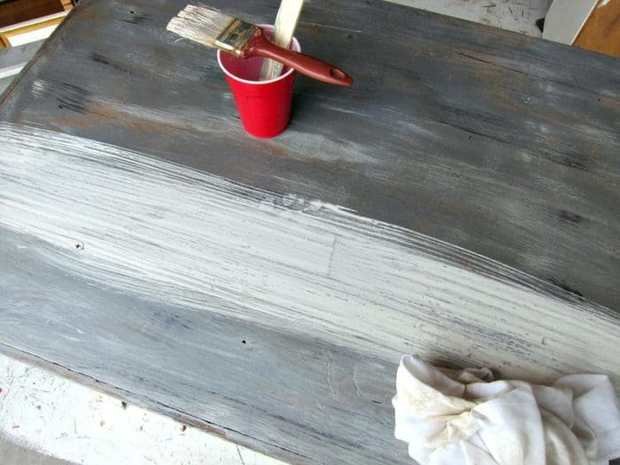 the perfect weathered wood gray finish tutorial Petticoat Junktion project tutorial 1