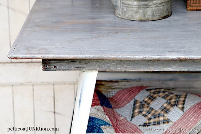 weathered wood finish Petticoat Junktion