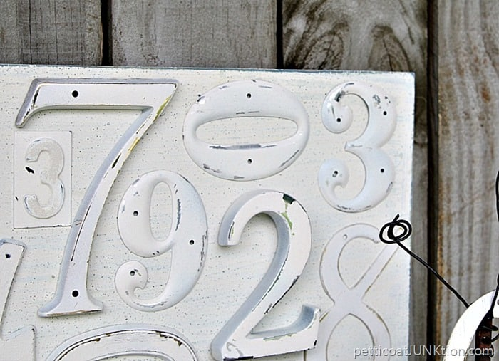 DAP RapidFuse used to adhere metal letters to wood for wall decor Petticoat Junktion