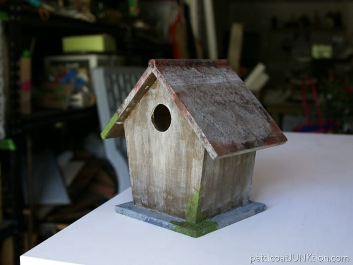 FolkArt Painted Finishes Birdhouse Project Petticoat Junktion Plaid Creators