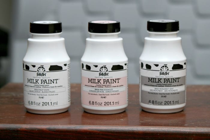 FolkArt milk paint furniture project