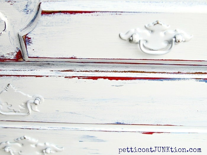 Red White Blue Furniture Makeover Petticoat Junktion project