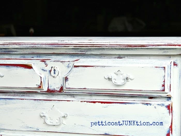 Red White Blue Furniture Paint Project Petticoat JunktionRed White Blue Furniture Makeover Is A Dud Petticoat Junktion. Red White And Blue Painted Furniture. Home Design Ideas