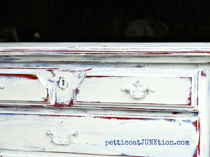 Red White Blue Furniture Paint Project Petticoat Junktion