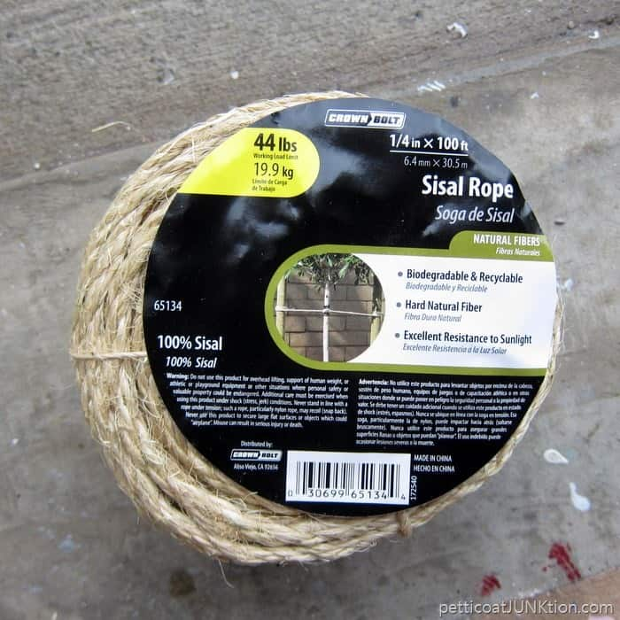 Sisal Rope from Home Depot Project by Petticoat Junktion