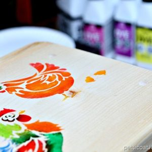 Stenciled Step Stool Is Something To Crow About