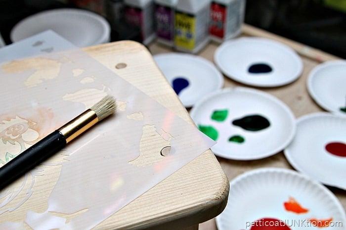 Ultra Dye project Petticoat Junktion FolkArt paint