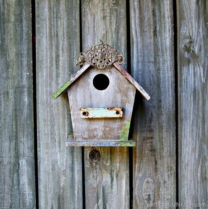 Vintage Hardware Adds Charm To A Wood Birdhouse Petticoat Junktion