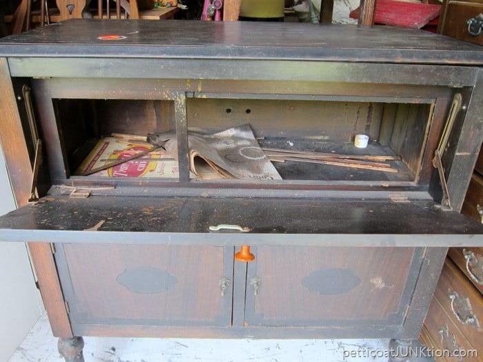 cabinet interior Petticoat Junktion flea market find
