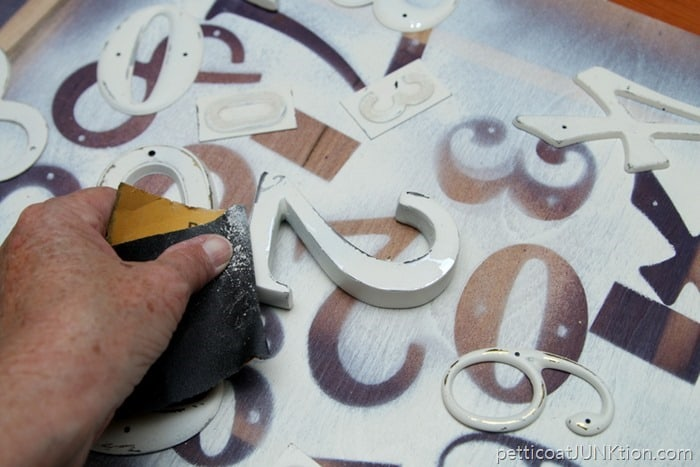 distressing paint by hand