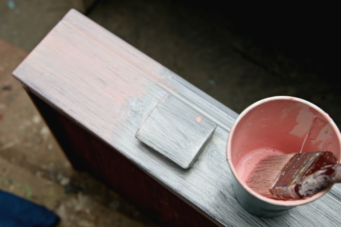 layering paint on furniture