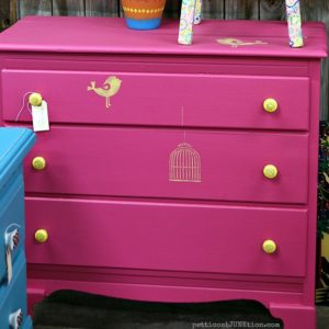 The Bright Fuchsia Dresser Is Moving On
