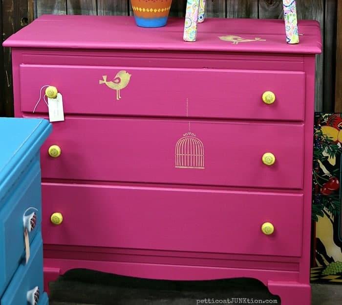 pink dresser Petticoat Junktion