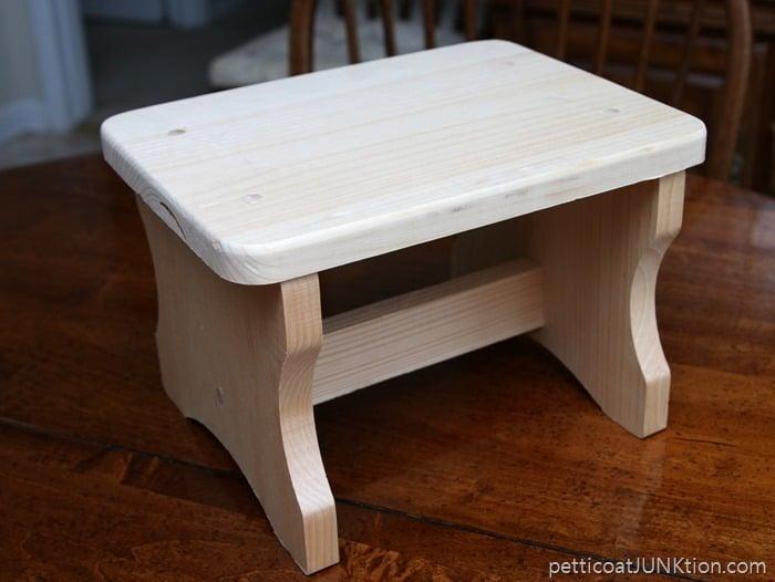 unfinsihed stool