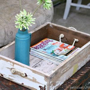 Add Sisal Rope Handles To A Wood Box