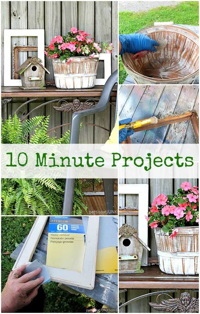 10 minute diy projects with spray paint and sand paper