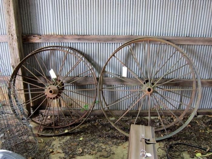 400 Mile Yard Sale wagon wheels