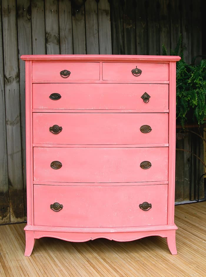 Go Coastal With White Washed Coral Paint Petticoat Junktion themed furntiure makeover day