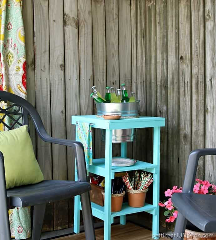 How To Build A Multi Purpose Beverage Station Petticoat Junktion Home Depot DIH Project