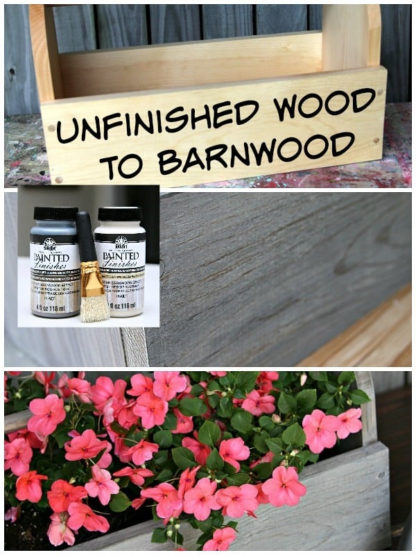 How To Make Unfinished Wood Look Like Rustic Barnwood Petticoat Junktion project