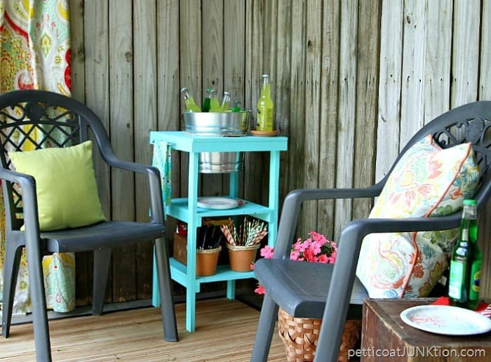 How to make a wood Beverage Station with galvanized bucket for drinks Petticoat Junktion