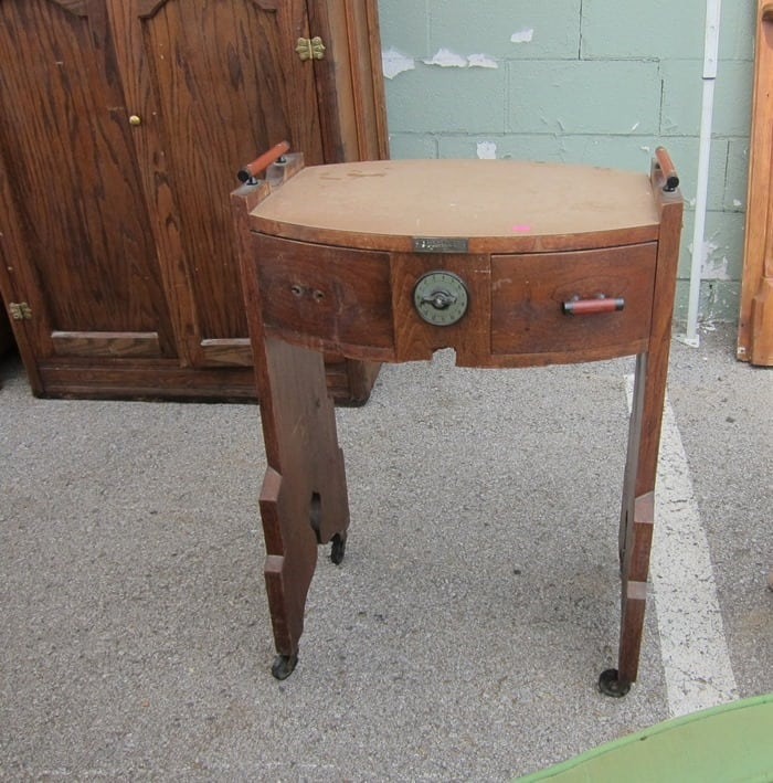 I think I bought a vintage manicure table at the Nashville Flea Market Petticoat Junktion
