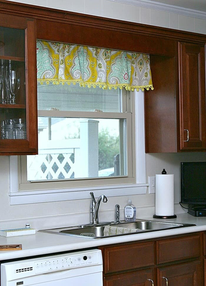 Kitchen Curtains with Pom Pom fringe Petticoat Junktion 2