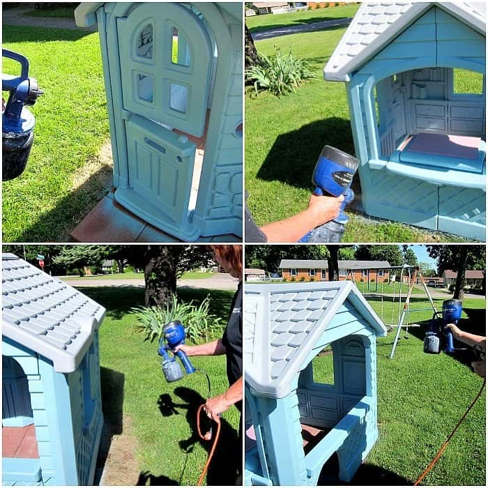 Little Tikes Playhouse paint project Petticoat Junktion