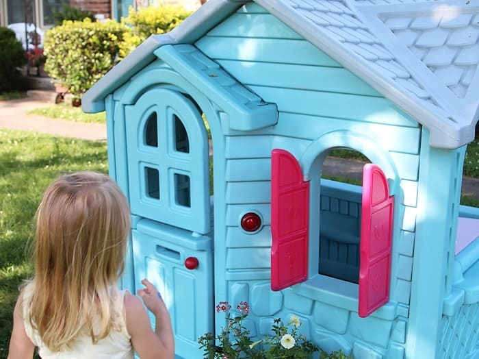 How To Paint A Little Tikes Playhouse