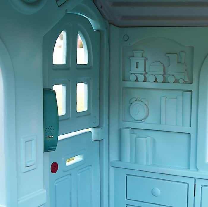 Paint the interior of Little Tikes Playhouse Petticoat Junktion