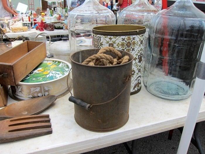 bucket of rope Nashville Flea Market Petticoat Junktion