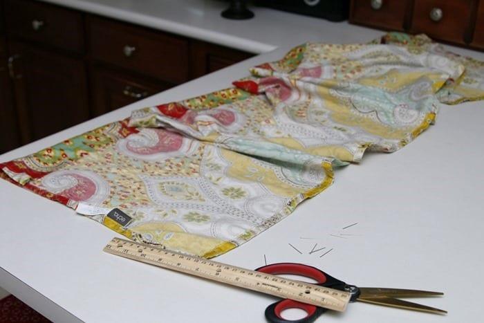 cutting curtain material