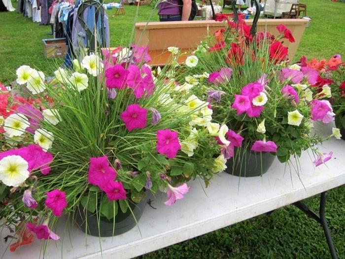 hanging flower baskets 400 Mile Yard Sale