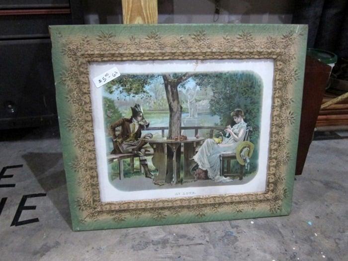 vintage frame and print 400 Mile Yard Sale