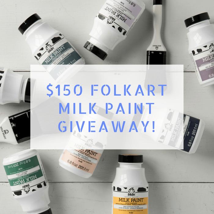 150 dollar Milk Paint Giveaway
