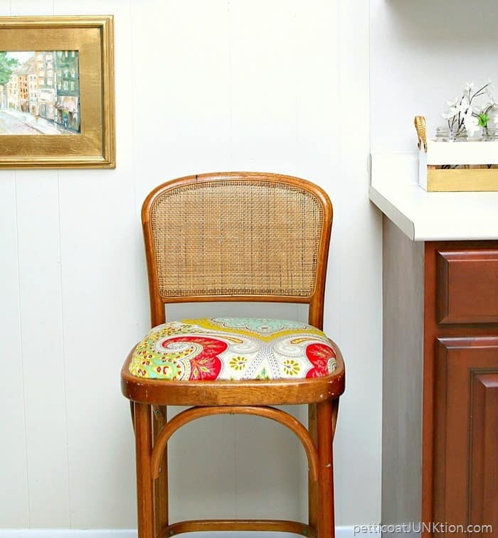 Cane Back Bar Stool And That Fabric Again Petticoat Junktion