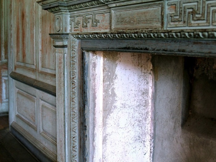 Drayton Hall Fireplace wood details