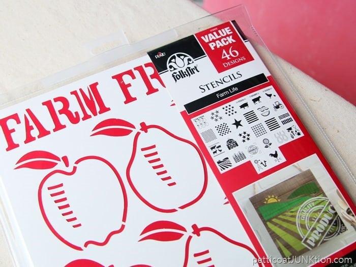 FolkArt Stencil pack Farm Fresh